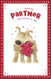 Boofle Valentine's Card For My Amazing Partner Cute Greeting Card