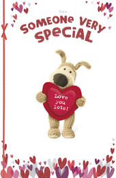 Boofle Valentine's Card For Someone Special Cute Greeting Card