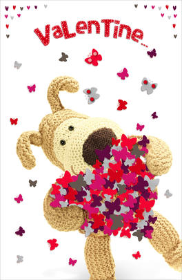 Boofle Valentine's Card You Give Me Butterflies Cute Greeting Card