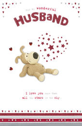Boofle Husband Valentine's Best Ever Husband Cute Greeting Card