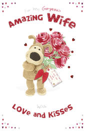 Boofle Valentine's Card For My Amazing Wife Embellished Greeting Card