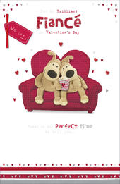 Boofle Valentine's Card For My Brilliant Fiance Embellished Greeting Card