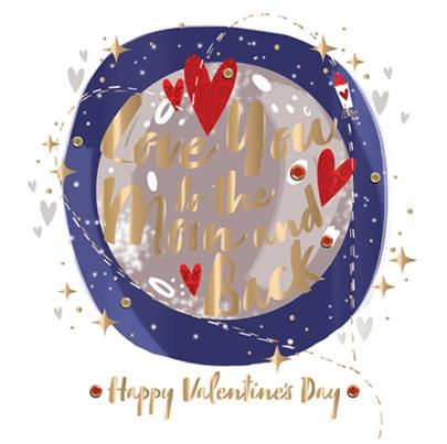 Valentine's Day Card Love You To The Moon And Back Greeting By Talking Pictures