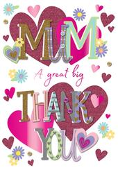 Happy Mother's Day Card Thank You Mum Handmade Greeting By Talking Pictures