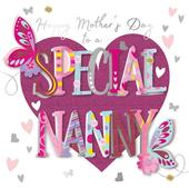 Happy Mother's Day Card To A Special Nanny Handmade Greeting By Talking Pictures