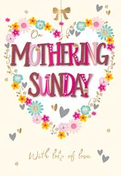 On Mothering Sunday Card With Lots Of Love Handmade Greeting By Talking Pictures