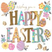 Happy Easter Greeting Card Handmade By Talking Pictures