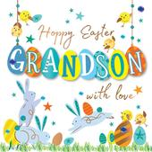 Easter Greeting Card For A Grandson Handmade By Talking Pictures