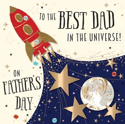 Father's Day Card Best Dad In The Universe Greeting By Talking Pictures