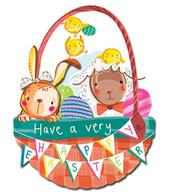 Pack of 4 Easter Cards Cute Mini Happy Easter Greeting Card Packs