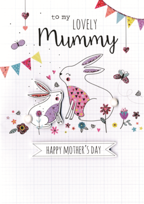 Mummy Mother's Day Card Embellished Hand-Finished Card