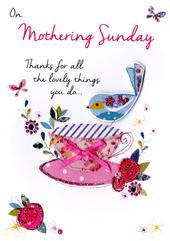 On Mothering Sunday Card Embellished Hand-Finished Card