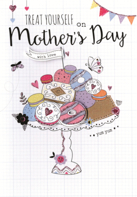 Treat Yourself Mother's Day Card Embellished Hand-Finished Card