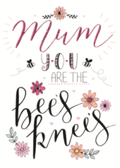 Mum Mother's Day Card You Are The Bees Knees Embellished Hand-Finished Card