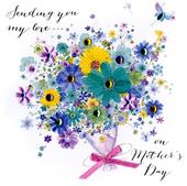 On Mother's Day Card Sending You My Love Embellished Hand-Finished Card