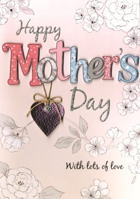 Happy Mother's Day Card Embellished Hand-Finished Card