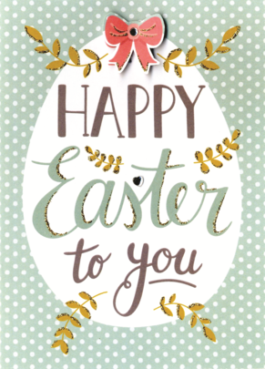 Happy Easter Greeting Card Embellished Hand-Finished Card