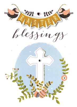 Easter Blessings Greeting Card Embellished Hand-Finished Card