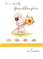 Granddaughter Easter Greeting Card Embellished Hand-Finished Card