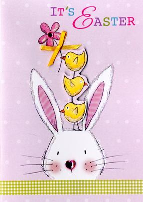 It's Easter Greeting Card Embellished Hand-Finished Card