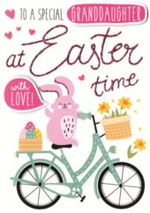 Granddaughter Easter Greeting Card Embellished Hand-Finished Card
