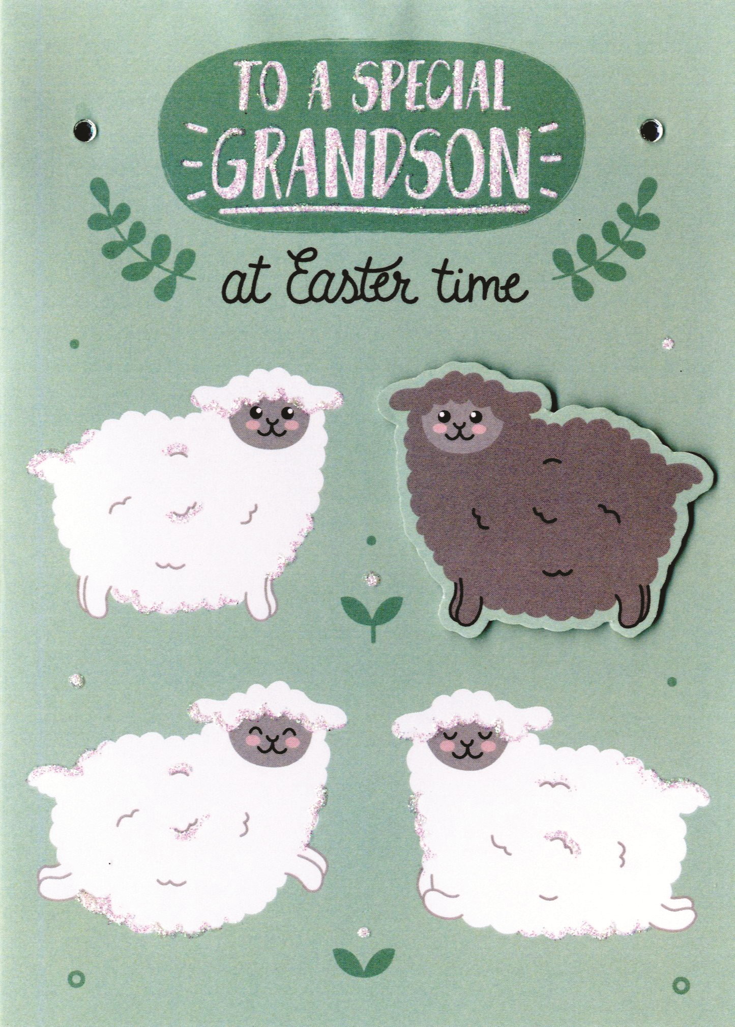 Granddaughter Easter Greeting Card Embellished Decorated Greetings Cards
