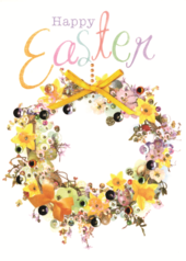 Happy Easter Greeting Greeting Card Embellished Hand-Finished Card