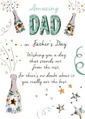 Amazing Dad Father's Day Card Just To Say Embellished Hand-Finished Card
