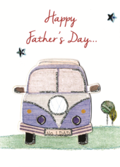 Happy Father's Day Card Embellished Hand-Finished Card
