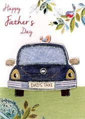 Happy Father's Day Card Dad's Taxi Embellished Hand-Finished Card
