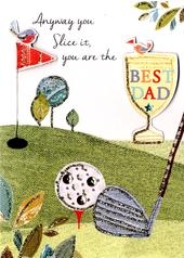 Best Dad Father's Day Card Embellished Hand-Finished Card