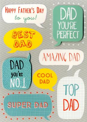 Happy Father's Day Card Best Dad Embellished Hand-Finished Card