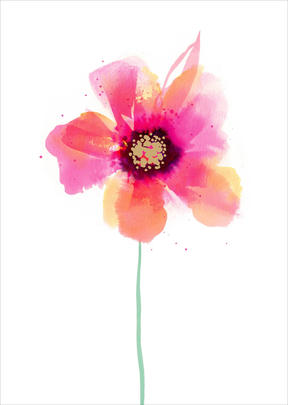 Mother's Day Card Simple Water Colour Flower