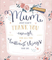 Mother's Day Card Thank You Mum