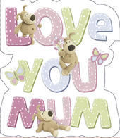 Boofle Mother's Day Card Love You Mum