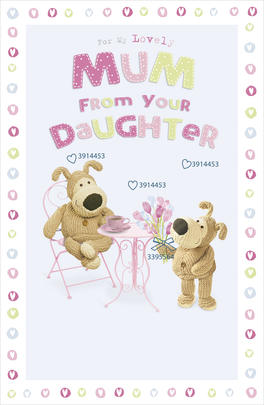Boofle Mother's Day Card To Mum From Daughter