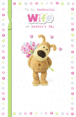 Boofle Wife Mother's Day Card Best Mum & Wife