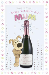 Boofle Happy Mother's Day Card Mum's Prosecco
