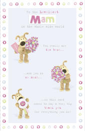 Boofle Mam Mother's Day Card Pretty