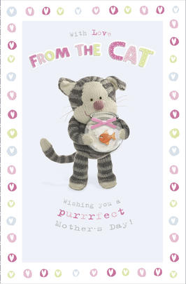 Boofle Mother's Day Card From The Cat