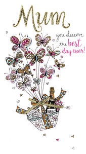 Mother's Day Card You Deserve The Best Embellished Champagne Range
