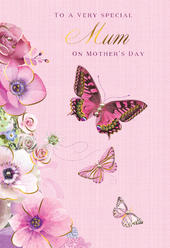 Mother's Day Card Special Mum Butterfly