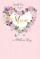 Mother's Day Card With Love Mum