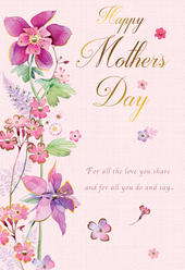 Happy Mother's Day Card Special Embellished Flowers