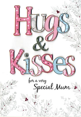 Mother's Day Card Hugs & Kisses Special Mum