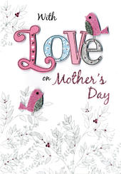 Mother's Day Card With Love On Mothers Day
