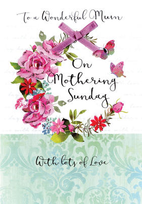 Mother's Day Card Wonderful Mum On Mothering Sunday