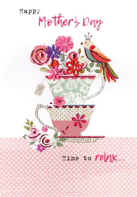 Happy Mother's Day Card Time To Relax