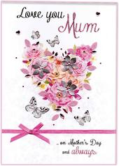 Boxed Mother's Day Card Love You Mum Luxury