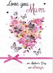 Mother's Day Card Love You Mum Luxury